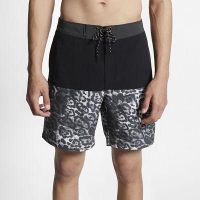 """Hurley Phantom   Men's Leopard 18"""" Board Shorts"""