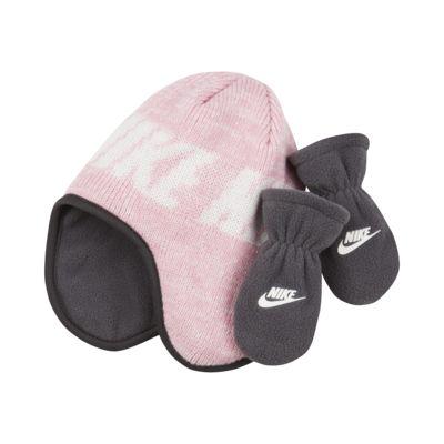 Nike Conjunto de dos piezas con gorro y manoplas - Infantil