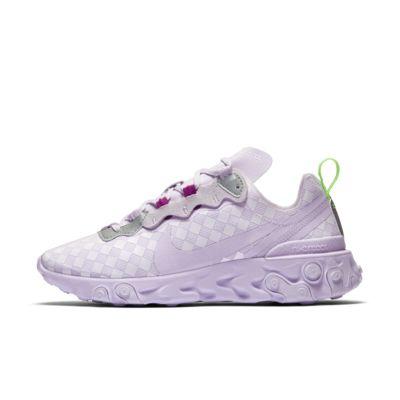 Женские кроссовки с клетчатым принтом Nike React Element 55