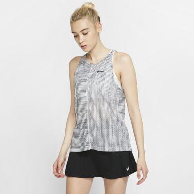 NikeCourt Camiseta de tirantes de tenis con estampado - Mujer