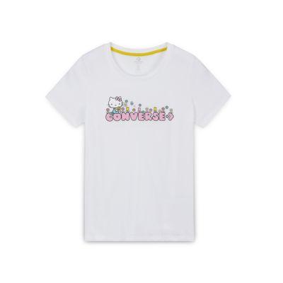 Converse x Hello Kitty Floral Wordmark Tee