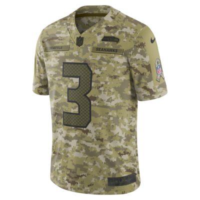NFL Seattle Seahawks Salute to Service (Russell Wilson) Big Kids' Football Jersey