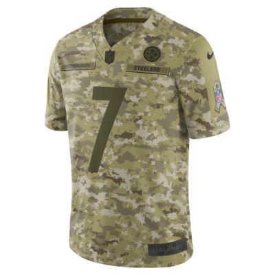 NFL Pittsburgh Steelers Salute to Service (Ben Roethlisberger) Big Kids' Football Jersey