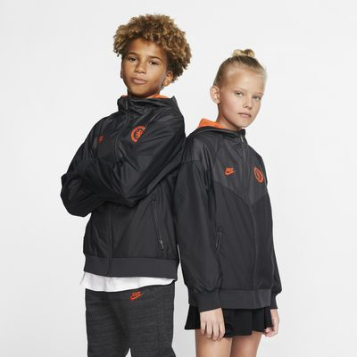 Chamarra de tejido Woven para niños talla grande Chelsea FC Windrunner