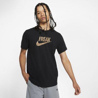 "Basket-t-shirt Nike Dri-FIT Giannis ""Coming to America"" för män"