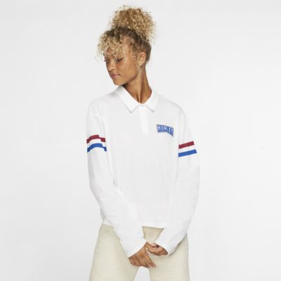 Hurley Collegiate Women's Cropped Long-Sleeve Polo