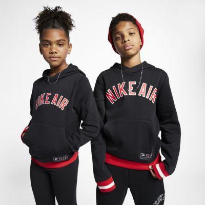 Dzianinowa bluza z kapturem dla dużych dzieci Nike Air