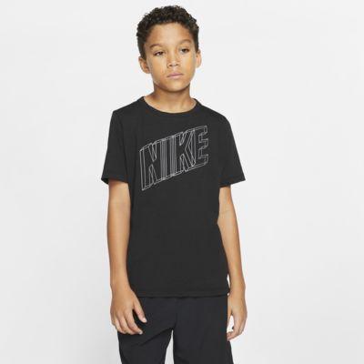 Kortærmet Nike Breathe-træningsoverdel med grafik til drenge