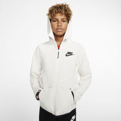 Nike Sportswear Tech Fleece jakke med hel glidelås til store barn
