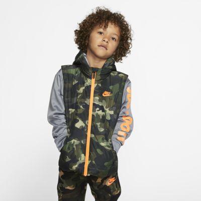 Nike Therma Little Kids' Full-Zip Puffer Hoodie