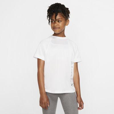 Haut de training à manches courtes et motifs Nike Dri-FIT pour Fille plus âgée