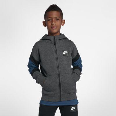 Nike Air 大童 (男童) 全長式拉鍊連帽上衣