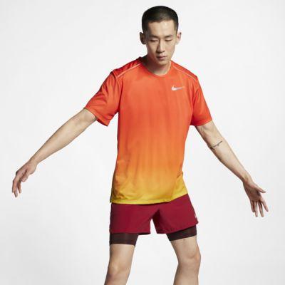 Pánské běžecké tričko Nike Dri-FIT Miler s krátkým rukávem a potiskem