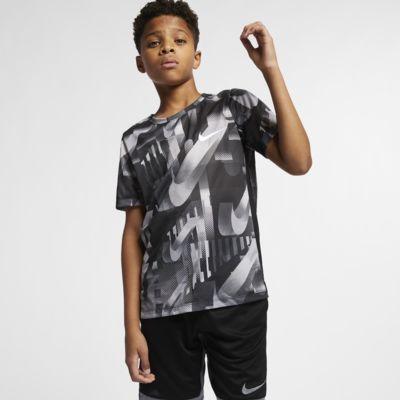 Nike Dri-FIT 大童 (男童) 短袖印花訓練上衣