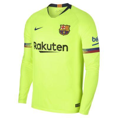2018/19 FC Barcelona Stadium Away Men's Long-Sleeve Football Shirt