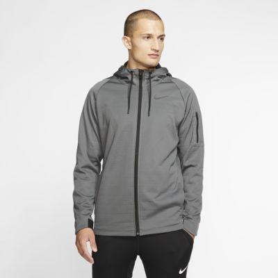 Pánská tréninková bunda Nike Therma s kapucí a dlouhým zipem