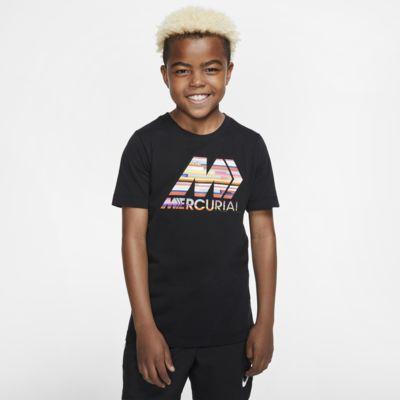 Playera de fútbol para niños talla grande Nike Dri-FIT Mercurial