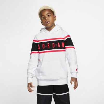 Air Jordan színblokkolt ragasztott kapucnis pulóver nagyobb gyerekeknek (fiúknak)