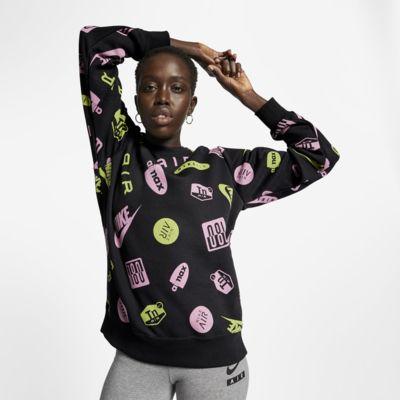 Tröja med rund hals Nike Air Max Printed för kvinnor