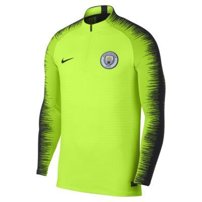 Manchester City FC VaporKnit Strike Drill-langærmet fodboldtrøje til mænd