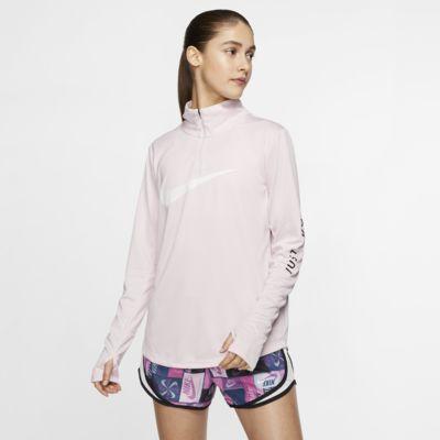 Top da running con zip a 1/4 Nike - Donna