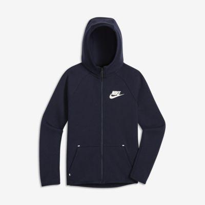 Chamarra con cierre completo para niños talla grande Nike Sportswear Tech Fleece