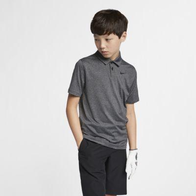 Polo de golf rayé Nike Dri-FIT pour Garçon plus âgé