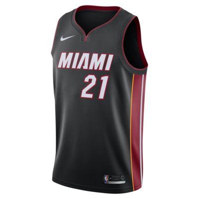 Camiseta conectada Nike NBA para hombre Hassan Whiteside Icon Edition Swingman (Miami Heat)