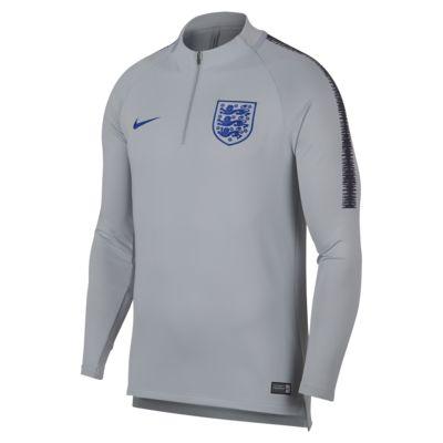 Top de fútbol de manga larga para hombre England Dri-FIT Squad Drill