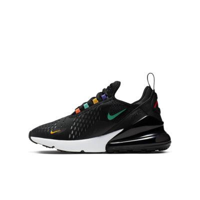Sneakers Nike Air Max 270 Schwarz und Orange Kinder