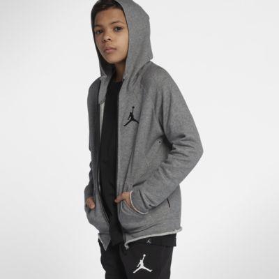 Hoodie com fecho completo Jordan Sportswear Wings Lite Júnior (Rapaz)