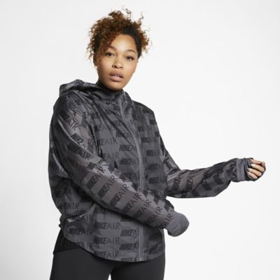 Nike Air Women's Hooded Running Jacket (Plus Size)