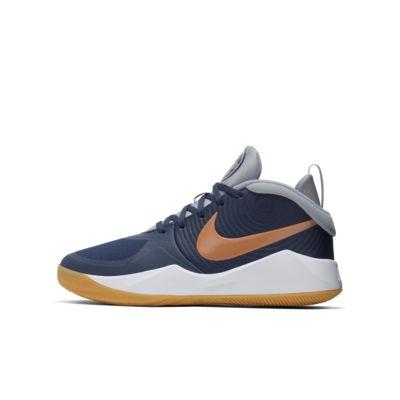 Nike Team Hustle D 9-basketballsko til store børn