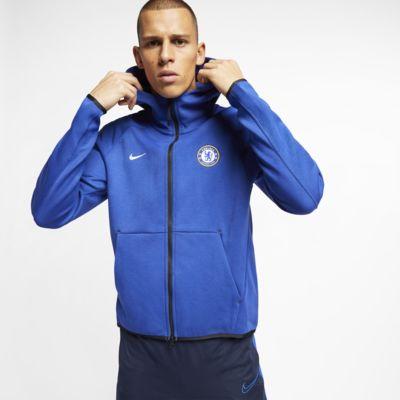 Chelsea FC Tech Fleece Tam Boy Fermuarlı Erkek Kapüşonlu Üst