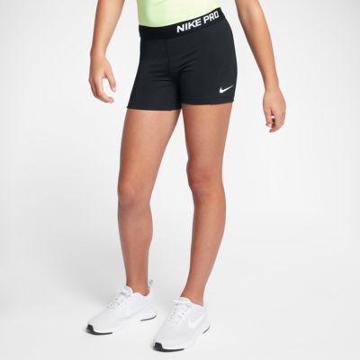 "Nike Pro Older Kids' (Girls') 4"" (10cm approx.) Training Shorts"