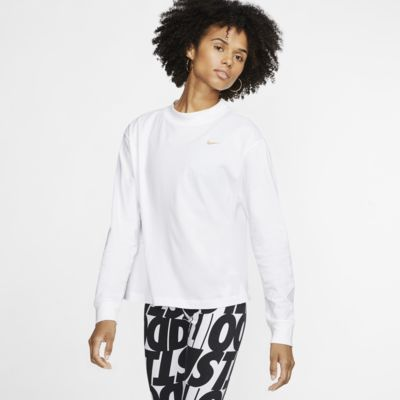 Langærmet Nike Sportswear Essential-overdel til kvinder
