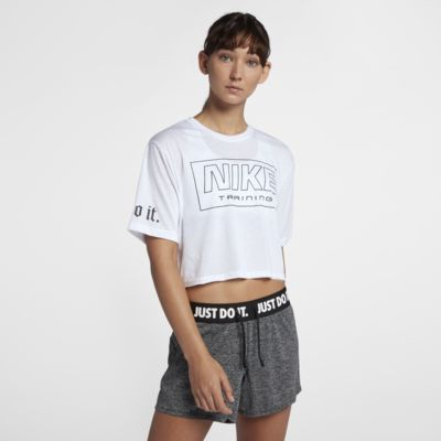 Nike Cropped Women s Short Sleeve Training Top. Nike.com 6785d4b07