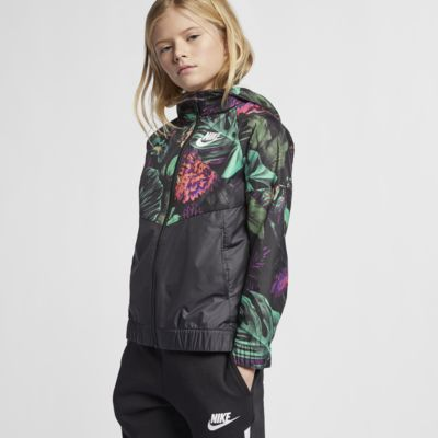"Nike Sportswear Windrunner ""Floral"" Big Kids' (Girls') Floral Windbreaker"