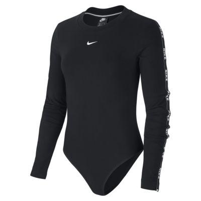 Γυναικείο μακρυμάνικο ολόσωμο κορμάκι με λογότυπο Nike Sportswear