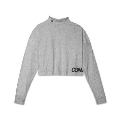 Converse  Women's Cropped Mock-Neck Top