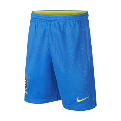 Shorts de fútbol para niños talla grande 2018 Brasil CBF Stadium Home
