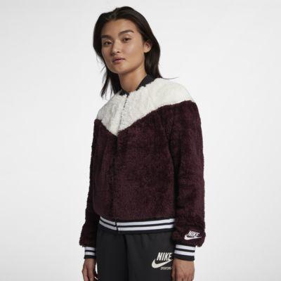 Veste aviateur en Sherpa Nike Sportswear pour Femme