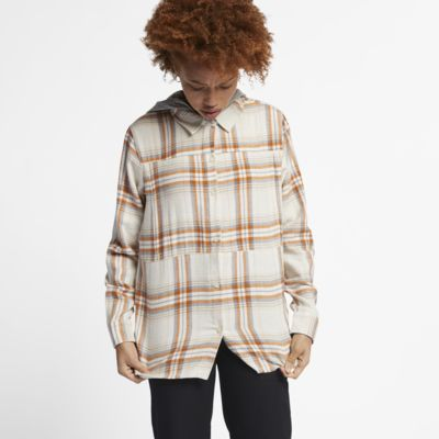 Hurley Hooded Wilson Women's Long-Sleeve Flannel Top