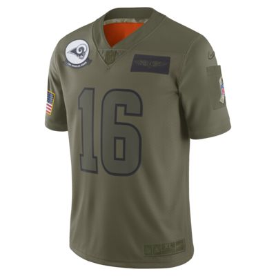 NFL Los Angeles Rams Limited Salute To Service (Jared Goff) Men's Football Jersey