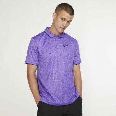 Męska koszulka polo do tenisa z nadrukiem NikeCourt Dri-FIT
