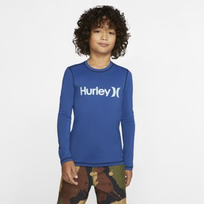 Hurley One And Only Boys' Long-Sleeve Rashguard Shirt