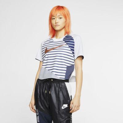 Dámské tričko Nike Sportswear Dri-FIT Unité Totale s krátkým rukávem a zkráceným střihem