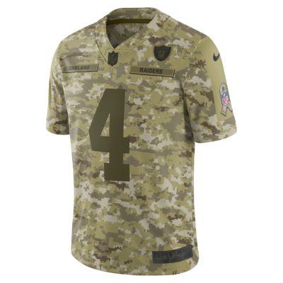 NFL Oakland Raiders Salute to Service (Derek Carr) Big Kids' Football Jersey
