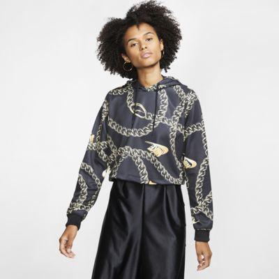 Krótka damska bluza z kapturem Nike Sportswear Icon Clash