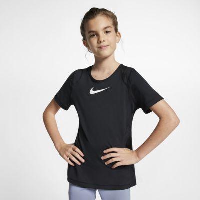 Nike Pro 大童 (女童) 短袖上衣